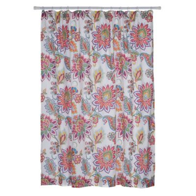 Levtex Home Victoria Shower Curtain In Coral