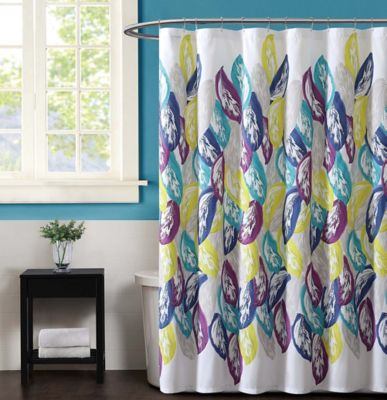 Christian Siriano Plume Shower CurtainBuy Yellow and Grey Shower Curtains from Bed Bath   Beyond. Yellow And Teal Shower Curtain. Home Design Ideas