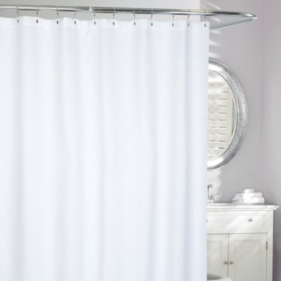 Billow Matelasse Shower Curtain In White