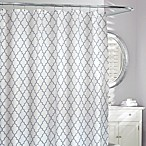 Moda Frette Fabric Shower Curtain in Grey/White