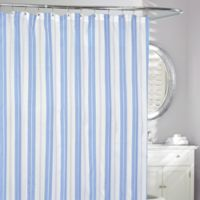 Turq Striped Shower Curtain in Blue