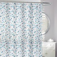 Tuttio Geometric Shower Curtain in Blue/Grey
