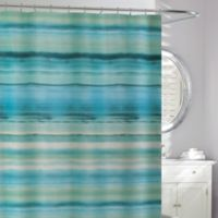 Ocean Watercolor Shower Curtain In Blue Green
