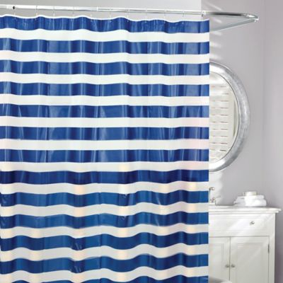 Moda Admiral PEVA Shower Curtain In Blue