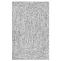 nuLOOM Festival Braided Lefebvre 4-Foot x 6-Foot Area Rug in Salt and Pepper