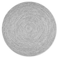 nuLOOM Festival Braided Lefebvre 6-Foot Round Rug in Salt and Pepper