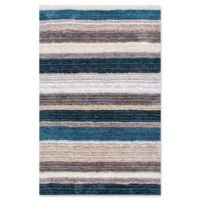 nuLOOM Hand Tufted Classie 5-Foot x 8-Foot Shag Area Rug in Blue