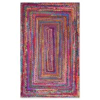 nuLOOM Nomad Hand-Braided Tammara 4-Foot x 6-Foot Multicolor Area Rug
