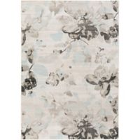Surya Allegro Wispy Floral 2-Foot 2-Inch x 3-Foot Accent Rug in White