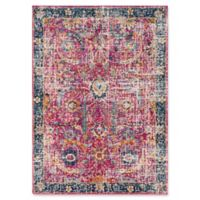 Surya Fenalun Floral Border 3-Foot 11-Inch x 5-Foot 7-Inch Area Rug in Pink