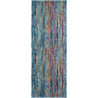 Surya Fenalun Stripe 2-Foot 7-Inch x 7-Foot 3-Inch Area Rug in Teal