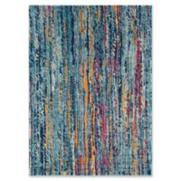 Surya Fenalun Stripe 3-Foot 11-Inch x 5-Foot 7-Inch Area Rug in Teal