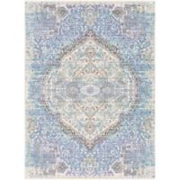Surya Dynine Floral 2-Foot x 3-Foot Accent Rug in Violet/Blue