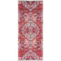 Surya Dynine Floral 2-Foot 11-Inch x 7-Foot 10-Inch Runner in Pink
