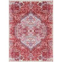 Surya Dynine Floral 3-Foot 11-Inch x 5-Foot 7-Inch Area Rug in Pink