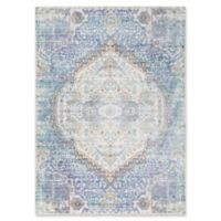 Surya Dynine Floral 5-Foot 3-Inch x 7-Foot 6-Inch Area Rug in Violet/Blue