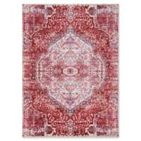 Surya Dynine Floral 5-Foot 3-Inch x 7-Foot 6-Inch Area Rug in Pink