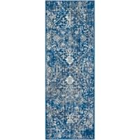 Surya Fenalun 2-Foot 7-Inch x 7-Foot 3-Inch Runner in Dark Blue/White