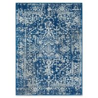 Surya Fenalun 3-Foot 11-Inch x 5-Foot 7-Inch Area Rug in Dark Blue/White