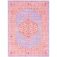Surya Dynine 3-Foot 11-Inch x 5-Foot 7-Inch Area Rug in Purple/Pink