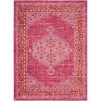 Surya Dynine 3-Foot 11-Inch x 5-Foot 7-Inch Area Rug in Bright Pink