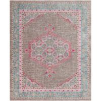 Surya Dynine 7-Foot 10-Inch x 10-Foot 3-Inch Area Rug in Teal/Brown