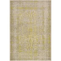 Surya Ladeen Classic Floral Border 2-Foot 2-Inch x 3-Foot Accent Rug in Olive