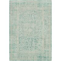 Surya Ladeen Classic Floral Border 2-Foot 2-Inch x 3-Foot Accent Rug in Emerald