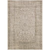 Surya Ladeen Classic Floral Border 2-Foot 2-Inch x 3-Foot Accent Rug in Dark Brown