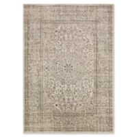 Surya Ladeen Classic Floral Border 5-Foot 2-Inch x 7-Foot 6-Inch Area Rug in Dark Brown