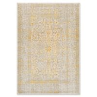 Surya Ladeen Classic Floral Border 5-Foot 2-Inch x 7-Foot 6-Inch Area Rug in Mustard