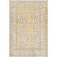 Surya Ladeen Classic Floral Border 7-Foot 6-Inch x 10-Foot 6-Inch Area Rug in Mustard