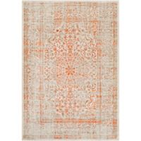 Surya Ladeen Classic Floral Border 7-Foot 6-Inch x 10-Foot 6-Inch Area Rug in Burnt Orange