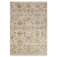 Surya Ladeen Classic Geometric Floral 5-Foot 2-Inch x 7-Foot 6-Inch Area Rug in Mustard