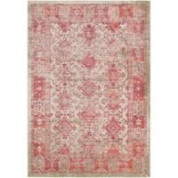 Surya Ladeen Classic Geometric Border 2-Foot 2-Inch x 3-Foot Accent Rug in Rose
