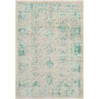 Surya Ladeen Classic Geometric Border 7-Foot 6-Inch x 10-Foot 6-Inch Area Rug in Emerald