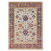 Surya Fenalun Wide-Border Floral 3-Foot 11-Inch x 5-Foot 7-Inch Area Rug in Light Grey