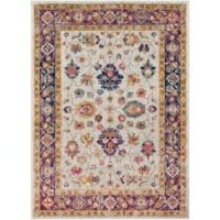 Surya Fenalun Wide-Border Floral 9-Foot 3-Inch x 12-Foot 6-Inch Area Rug in Light Grey