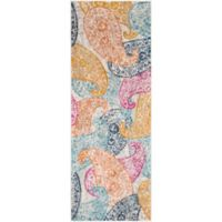 Surya Fenalun Floral and Paisley 2-Foot 7-Inch x 6-Foot 3-Inch Runner in Light Grey