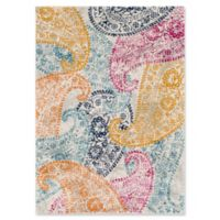 Surya Fenalun Floral and Paisley 3-Foot 11-Inch x 5-Foot 7-Inch Area Rug in Light Grey