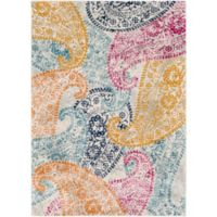 Surya Fenalun Floral and Paisley 9-Foot 3-Inch x 12-Foot 6-Inch Area Rug in Light Grey