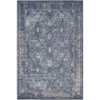 Surya 2-Foot x 3-Foot Rosaline Classic Accent Rug in Blue/Grey