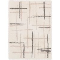 Surya 8-Foot x 10-Foot Cuvert Modern Area Rug in White