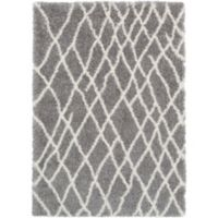 Surya Aynwild Broken Geometric Shag 2-Foot x 3-Foot Accent Rug in Grey