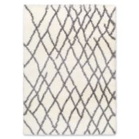 Surya Aynwild Broken Geometric Shag 5-Foot 3-Inch x 7-Foot 3-Inch Area Rug in White