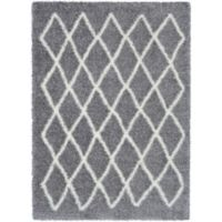 Surya Aynwild Geometric Shag 2-Foot x 3-Foot Accent Rug in Grey