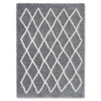 Surya Aynwild Geometric Shag 5-Foot 3-Inch x 7-Foot 3-Inch Area Rug in Grey