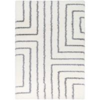 Surya Aynwild Maze Shag 2-Foot x 3-Foot Accent Rug in White