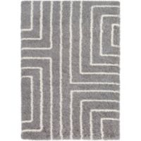 Surya Aynwild Maze Shag 2-Foot x 3-Foot Accent Rug in Grey