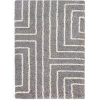 Surya Aynwild Maze Shag 7-Foot 10-Inch by 10-Foot 3-Inch Area Rug in Grey